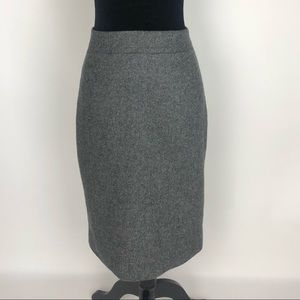 J.Crew NO 2 PENCIL SKIRT Donegal WOOL Size 6 Gray